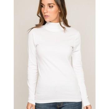 Vêtements Femme Pulls Dona X Lisa Sous pull col roulé pur coton organique FUSEE Blanc