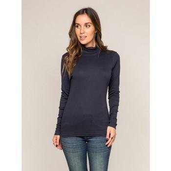 Vêtements Femme Pulls Dona X Lisa Sous pull col roulé pur coton organique FUSEE Bleu marine