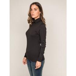 Vêtements Femme Pulls Dona X Lisa Sous pull col roulé pur coton organique FUSEE Noir