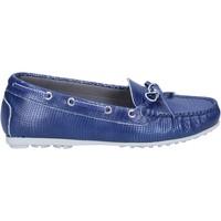 Chaussures Femme Mocassins K852 & Son mocassins bleu cuir BT933 bleu