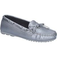 Chaussures Femme Mocassins K852 & Son mocassins argent cuir BT934 argent
