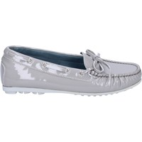 Chaussures Femme Mocassins K852 & Son mocassins gris cuir verni BT967 gris