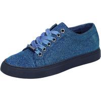 Chaussures Femme Baskets basses Sara Lopez sneakers bleu textil BT995 bleu