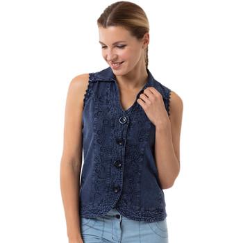 Vêtements Femme Chemises / Chemisiers La Cotonniere GILET KYRA Bleu