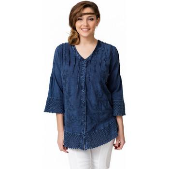 Vêtements Femme Chemises / Chemisiers La Cotonniere CHEMISE VIKI Bleu