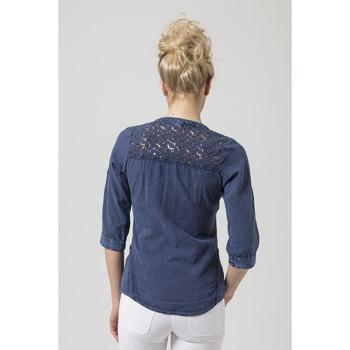 Vêtements Femme Bleu La Cotonniere Chemisier Ludzilla ChemisesChemisiers Aj5L43qR