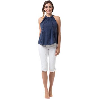 Vêtements Femme Tops / Blouses La Cotonniere TOP NAOMIE Bleu