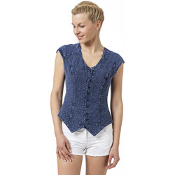 Vêtements Femme Tops / Blouses La Cotonniere GILET PANDORA Bleu