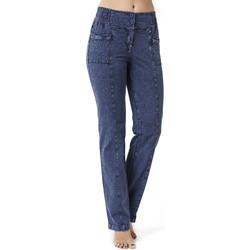 Vêtements Femme Jeans droit La Cotonniere PANTALON PANDORA Bleu