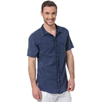 Vêtements Homme Chemises manches courtes La Cotonniere CHEMISE PETITES MANCHES Bleu