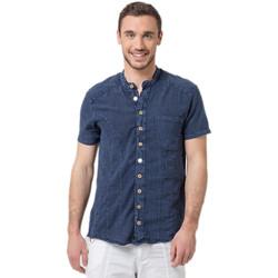 Vêtements Homme Chemises manches courtes La Cotonniere CHEMISE BILBAO Bleu