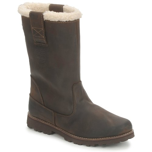 Botte ville Timberland 8 IN PULL ON WP BOOT WITH SHEARLING Marron foncé 350x350