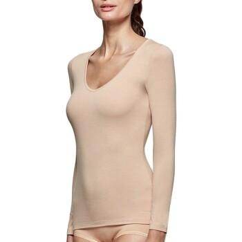 Vêtements Femme T-shirts manches longues Impetus Tricot de peau col V manches longues nude femme Beige