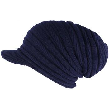 Accessoires textile Bonnets Nyls Création Bonnet Casquette Rasta Bleu Marine Kift Bleu