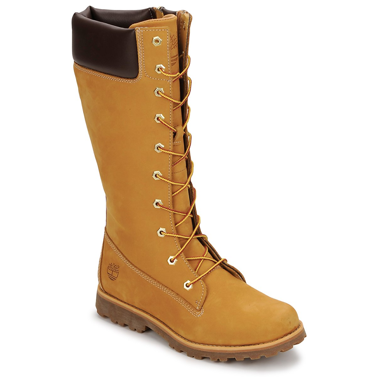 Botte ville Timberland GIRLS CLASSIC TALL LACE UP WITH SIDE ZIP Cognac