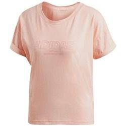 Vêtements Femme T-shirts manches courtes adidas Originals Ess Allcap Tee rose