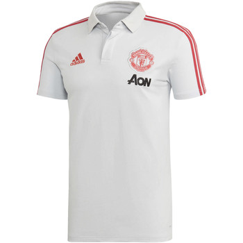 Vêtements Homme Polos manches courtes adidas Originals Polo Manchester United Gris / rouge