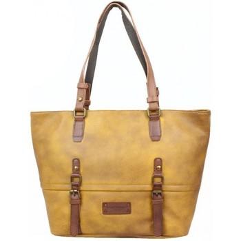 Sacs Femme Cabas / Sacs shopping Fuchsia Sac cabas  Omarion souple vieilli camel moutarde Camel