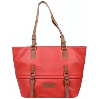 Sacs Femme Cabas / Sacs shopping Fuchsia Sac cabas  Omarion trapèze souple vieilli rouge Multicolor
