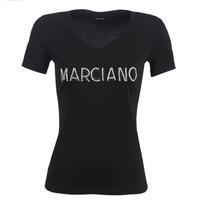 Vêtements Femme T-shirts manches courtes Marciano LOGO PATCH CRYSTAL Noir