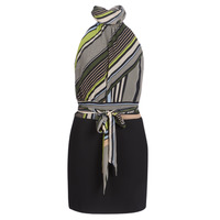 Vêtements Femme Robes courtes Marciano SEEING STRIPES Noir / Multico