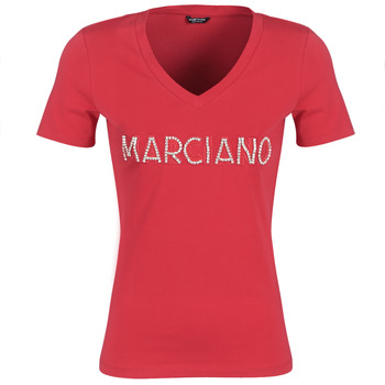 Vêtements Femme T-shirts manches courtes Marciano LOGO PATCH CRYSTAL Rouge