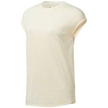 Vêtements Femme T-shirts manches courtes Reebok Sport EL Marble Tee Beige