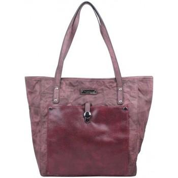 Sacs Femme Cabas / Sacs shopping Les Tropéziennes par M Belarbi Sac cabas Tropéziennes effet toile froissée lézard bordeaux Rouge bordeaux