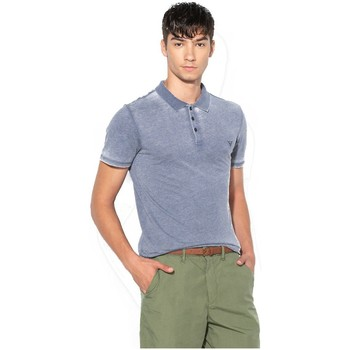 Vêtements Homme Polos manches courtes Guess Polo Manches Courtes Homme M82P01 Bleu Délavé