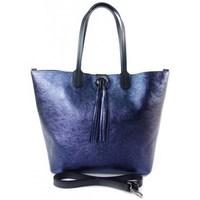 Sacs Femme Cabas / Sacs shopping Vera Pelle SB599BS Bleu marine