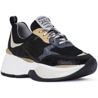 Chaussures Homme Baskets basses At Go GO MICROCRACK NERO Bianco
