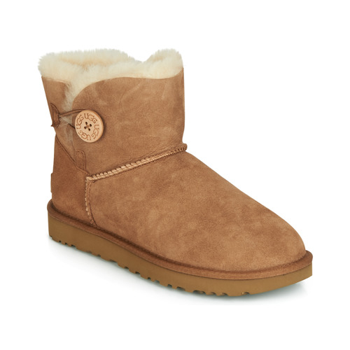 Chaussures Femme Boots UGG MINI BAILEY BUTTON II Camel