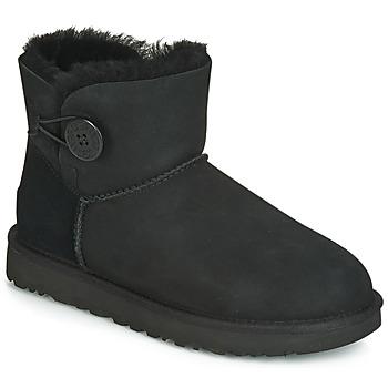 Chaussures Femme Boots UGG MINI BAILEY BUTTON II Noir