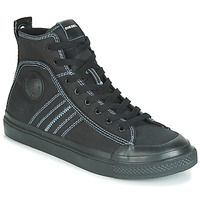 Chaussures Homme Baskets montantes Diesel S-ASTICO MID LACE Noir