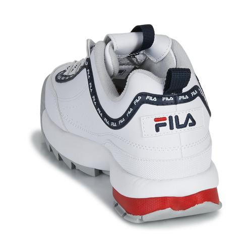 Fila Disruptor Logo Low Wmn Blanc - Livraison Gratuite- Chaussures Baskets Basses Femme 9520 NODnO