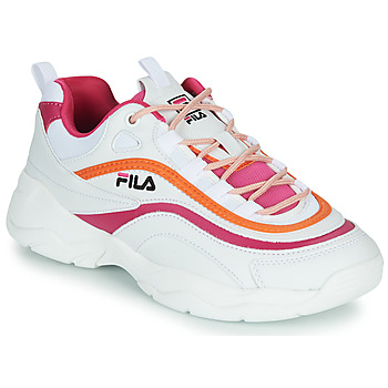 Chaussures Femme Baskets basses Fila RAY CB LOW WMN Blanc / Rose / Orange
