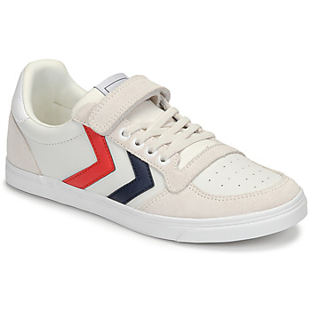 Chaussures Enfant Baskets basses Hummel SLIMMER STADIL LEATHER LOW JR Blanc