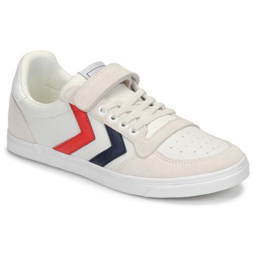 Chaussures Enfant Baskets basses Hummel SLIMMER STADIL LEATHER LOW JR Blanc