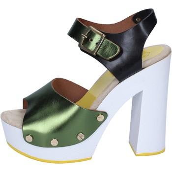 Chaussures Femme Escarpins Suky Brand femme  sasndales vert noir cuir BS18 vert