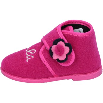 Chaussures Fille Chaussons Lulu fille LULU'' chaussons rose textile BS28 rose