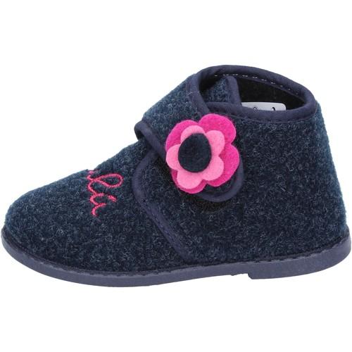 1c2a87feab45e Chaussures Fille Chaussons Lulu fille LULU   chaussons bleu textile BS29  bleu