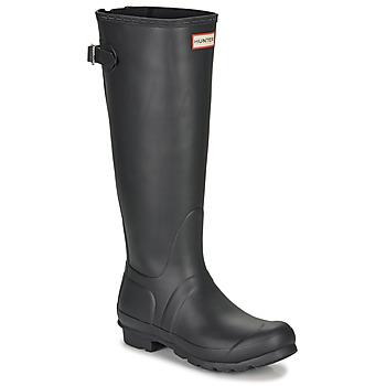 Chaussures Femme Bottes de pluie Hunter ORIGINAL BACK ADJUSTABLE Noir