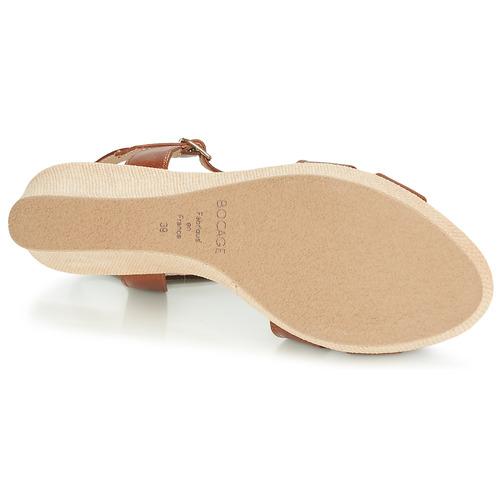 Herle Sandales pieds Chaussures Femme Bocage Cognac Nu Et 4jLR35A