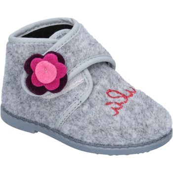 Chaussures Fille Chaussons Lulu fille chaussons gris textile BS47 gris