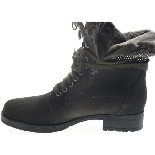 Chaussures Boots Tulsa Femme Reqin's Peau Gris fYgv7b6y