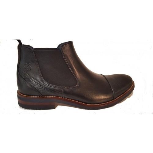 Chaussures Homme Boots Fluchos Bottine F0260 Mepv Noir