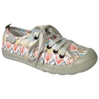 Chaussures Fille Baskets basses Palladium Basket Lina Print blanc