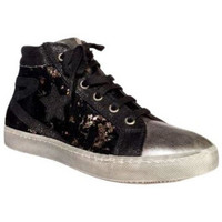 Chaussures Fille Baskets montantes Reqin's Basket montante Sally mix sequins Gris