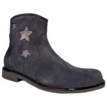 Chaussures Fille Bottines Reqin's Bottine Kampus peau lame bleu