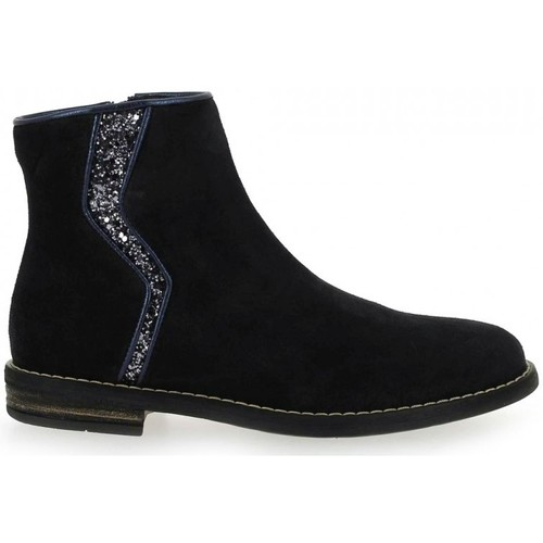 Chaussures Fille Boots Reqin's Bottine Marissa Peau Glitter bleu